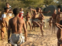 African Adventure Safaris -  Botswana Bushmen Games
